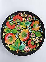 Декоративная тарелка настенная Петриковская роспись, декор для кухни, дома, интерьера, спальни, 25 см, 003