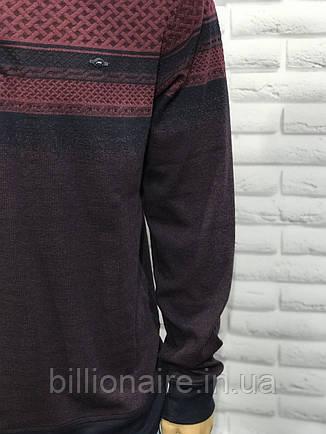 Батальний чоловічий весняний джемпер бордо, фото 2