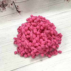 Тесьма с помпонами розовая 15мм №11