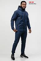 Костюм спортивный мужской Reebok демисезонный трикотажный Синий