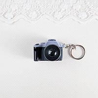 Миниатюра Фотоаппарат 4*5*3 см СЕРЫЙ с ЧЕРНЫМ