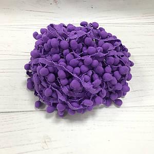 Тесьма с помпонами фиолетовая 15мм №19