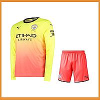 Футбольная форма Манчестер Сити (Manchester City) длинный рукав сезон 19/20 резервная