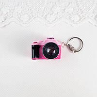 Миниатюра Фотоаппарат 4*5*3 см РОЗОВЫЙ с КРАСНЫМ