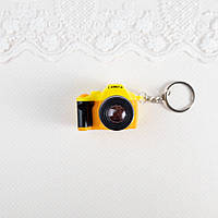 Миниатюра фотоаппарат, желтый с оранжевым - 4*5*3 см, фото 1