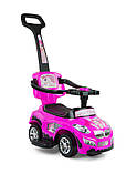 Машинка-каталка 3в1 Happy ТМ Milly Mally (Польша), розовый, фото 9
