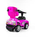 Машинка-каталка 3в1 Happy ТМ Milly Mally (Польша), розовый, фото 2