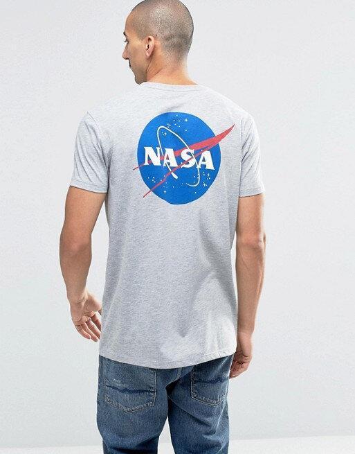 Футболка серая NASA back Logo • насса
