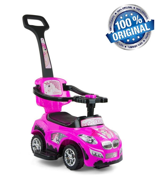 Машинка-каталка 3в1 Happy ТМ Milly Mally (Польша), розовый