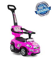 Машинка-каталка 3в1 Happy ТМ Milly Mally (Польша), розовый, фото 1