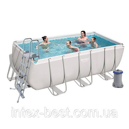Каркасный бассейн BestWay 56456 (412х201х122 см.) ( Картриджный  фильтр-насос 2006 л/ч; лестница), фото 2
