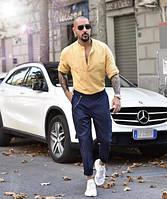 Айвори , голубая, персиковая, бирюзовая, мятная рубаха из льна 40-72+размер любой, фото 1