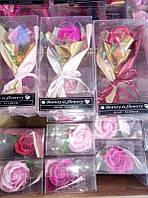 Букеты роз из мыла
