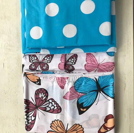Постельное белье бязь Бабочки полуторный комплект, фото 2