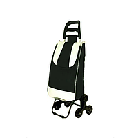 Тачка сумка тележка кравчучка с тройным колесом 95см Stenson MH-2786 Black