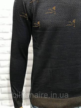 Чоловічий приталений светр джинс, фото 2