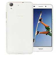 Силиконовый чехол для Huawei Y6 белый прозрачный