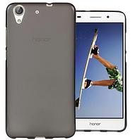 Силиконовый чехол для Huawei Y6 черный прозрачный