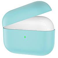 Ультратонкий силиконовый чехол Candy Slim для Apple Airpods Pro (coastal blue)