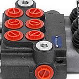Гидрораспределитель Р40 с ручным управлением, 3 секции, фото 7