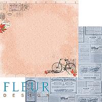 """Лист бумаги для скрапбукинга """"Обрывки памяти"""", коллекция """"Краски осени"""", 30х30, плотность 190 гр."""