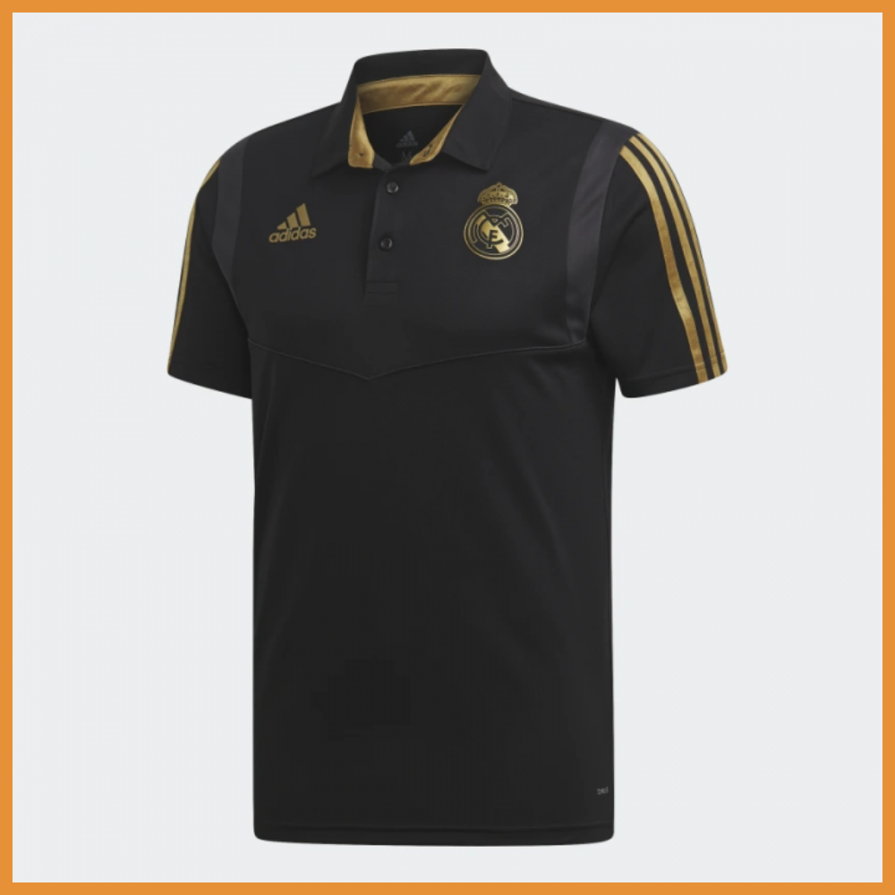 Поло Реал Мадрид (Real Madrid) черная, сезон 19/20