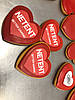 Пряники сердечки з логотипом, фото 3