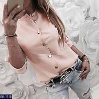 Блуза женская на пуговицах в разных цветах. Размер: 42-44, 44-46, фото 1