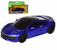 Машина метал-пластик АВТОПРОМ 1:31 Honda Acura NSX , свет, звук, СИНИЙ 7606