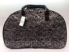 Витончена жіноча дорожня сумка-саквояж текстильна для поїздок