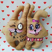 Ароматизированная мягкая игрушка ручной работы с запахом кофе, ванили и корицы. Надпись с приколом .