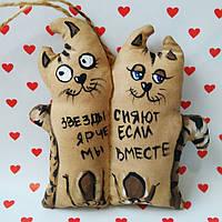Ароматизированная мягкая игрушка Коты Неразлучники ручной работы с запахом кофе, ванили и корицы.