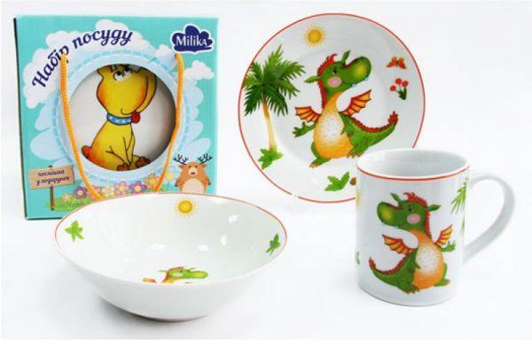 Дитячий набір 3 предмета Baby Dragon Milika M0690-2