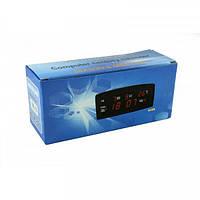 Настольные электронные LED часы 909-А (календарь, температура, будильник), фото 3