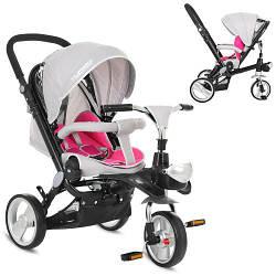Детский трехколесный велосипед Turbo Trike M AL3645-9 серо-розовый