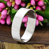 Серебряное Обручальное кольцо Американка вес 3.12 г размер 15.5