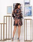 Сукня NOBILITAS 42 - 48 коричневе шовк з принтом (арт. 20007), фото 3