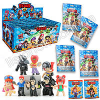 Набор фигурок Brawl Stars с карточкой в пакете - 8 разных героев, коллекционные фигурки из игры Бравл Старс, фото 1