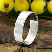 Серебряное Обручальное кольцо Американка вес 3.12 г размер 19