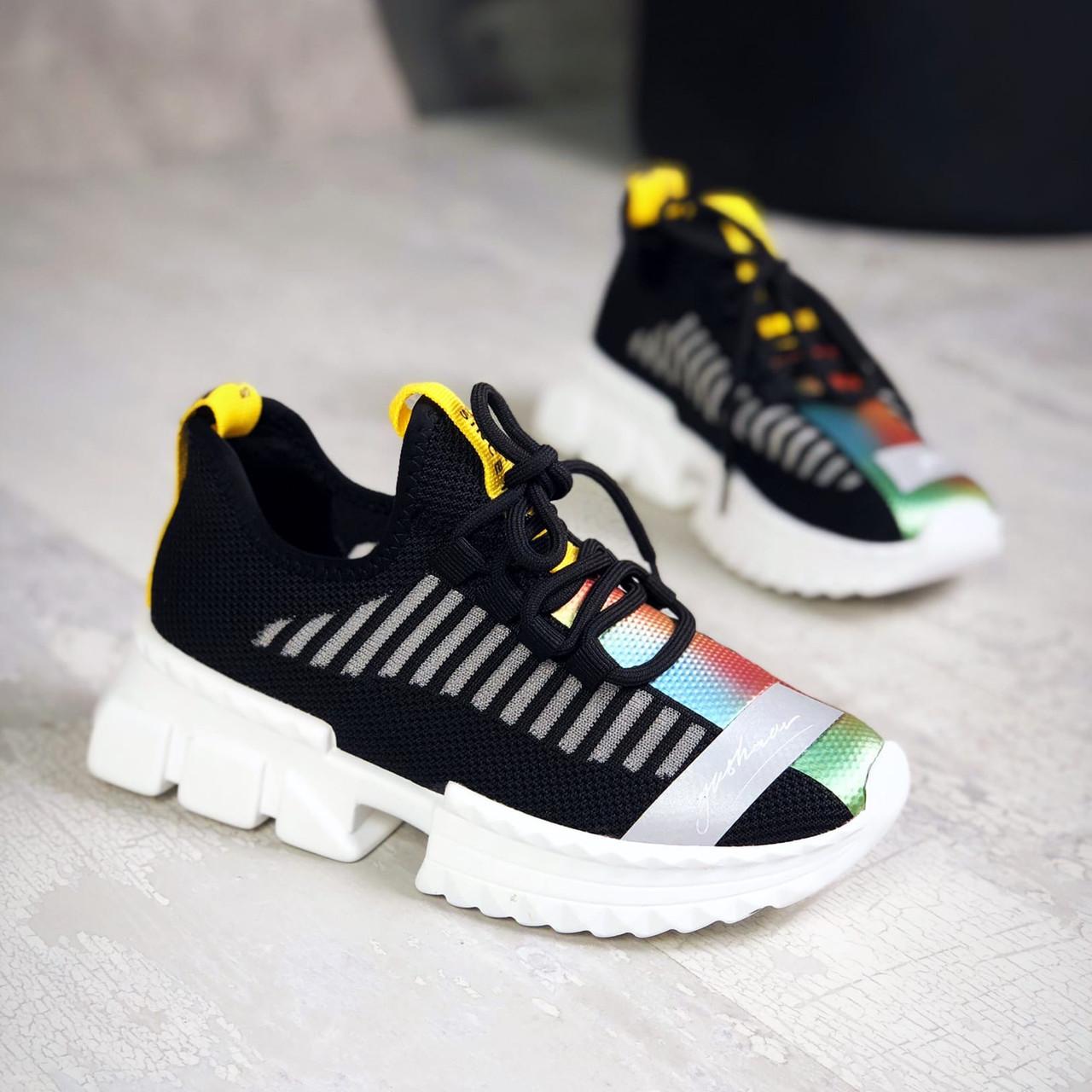 Легкі і зручні кросівки з текстилю 36,37,38 р чорний