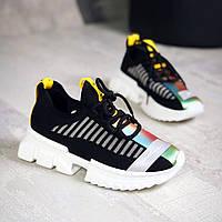 Легкі і зручні кросівки з текстилю 36,37,38 р чорний, фото 1