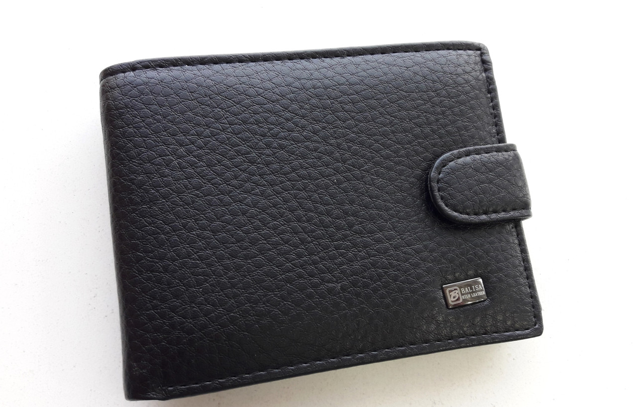 Мужское портмоне с искусственной кожи Balisa W52-209 черный Купить портмоне оптом недорого Одесса 7 км