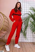 Демисезонный женский спортивный костюм из трикотажа на молнии (42-46)