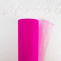 Фатин в рулоне средней жесткости ширина 15 см Фуксия