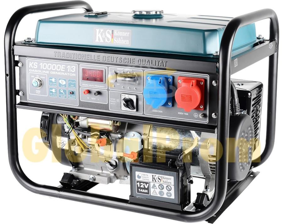 Бензиновый генератор Könner & Söhnen KS 10000E-1/3