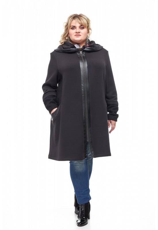 Женское стильное пальто размера плюс Вельбо (62-72)