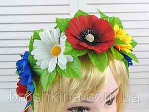 Венок  украинский 7 цветков с лентами