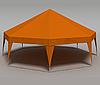 Палатка Пирамида на 50 человек - оранжевый