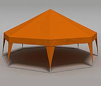 Палатка Пирамида на 50 человек - оранжевый, фото 1