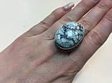 Бірюза в сріблі кільце овал з бірюзою розмір 18,5., фото 3